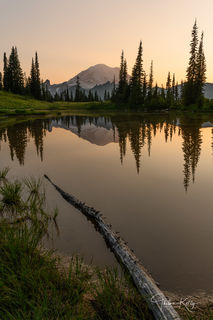 Mt. Rainer National Park, national park, reflection, calm, sunrise
