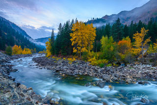 fall color, Wenatchee River