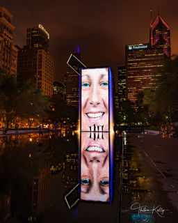 Chicago, Crown Fountain, Millennium Park, interactive art, kids, fun