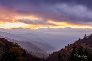 Great Smoky Mountain National Park, mountains, national parks, layers, sunrise, mountain sunrise, misty landscapes, mist