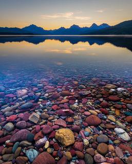 Glacier National Park, Montana, national parks, landscape photography, lakes Lake McDonald, colorful rocks, shoreline, kaleidoscope