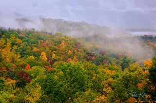 Great Smoky Mountain National Park, mountains, misty landscapes, mist, fall, fall color, autumn