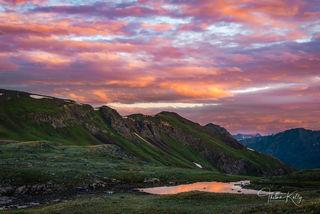 Colorado, sunrise, reflection, San Juan Mountains, early morning