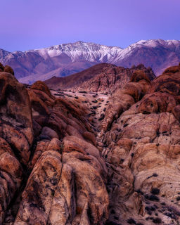 American southwest, Sierra Nevada, Alabama Hills, desert, boulders, mountains, sunrise, California, California mountain ranges