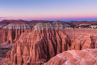 Capitol Reef National Park, Utah, Belt of Venus, sunset, landscape