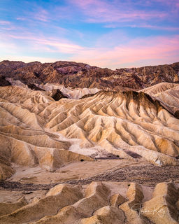 Zabriskie Point, Death Valley National Park, California, sunset