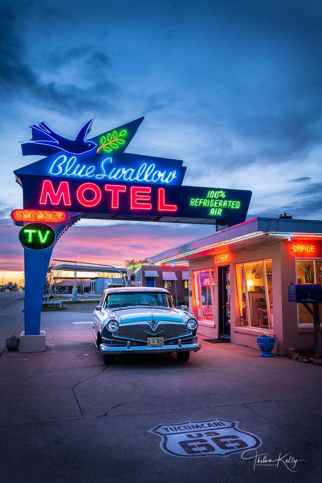 The Blue Swallow Motel print