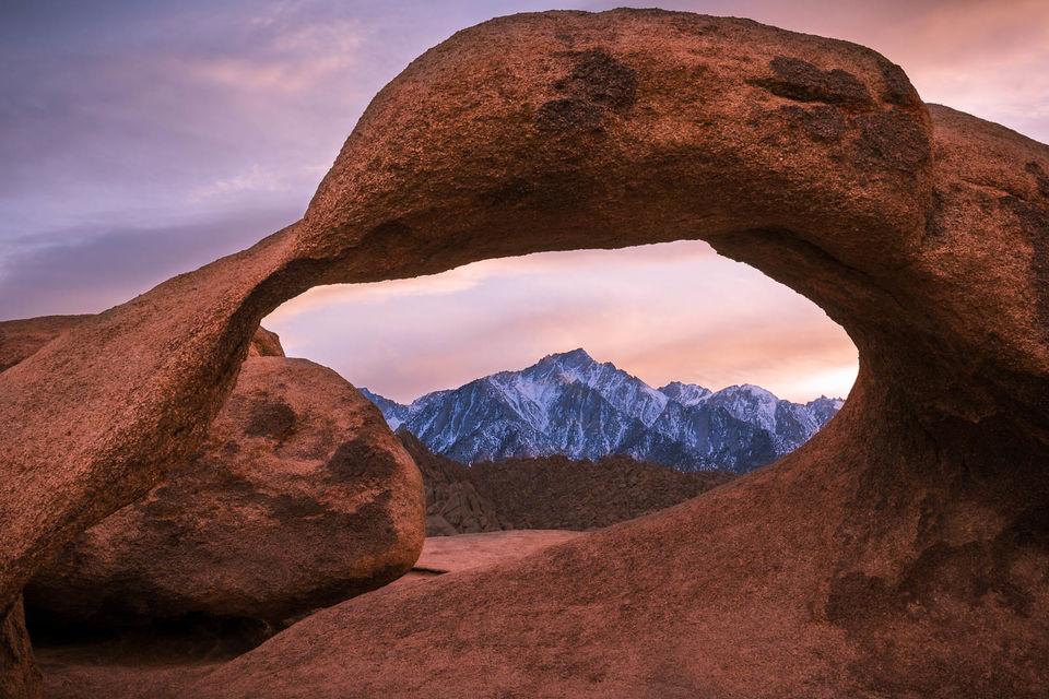 Mobius Arch Sunset print