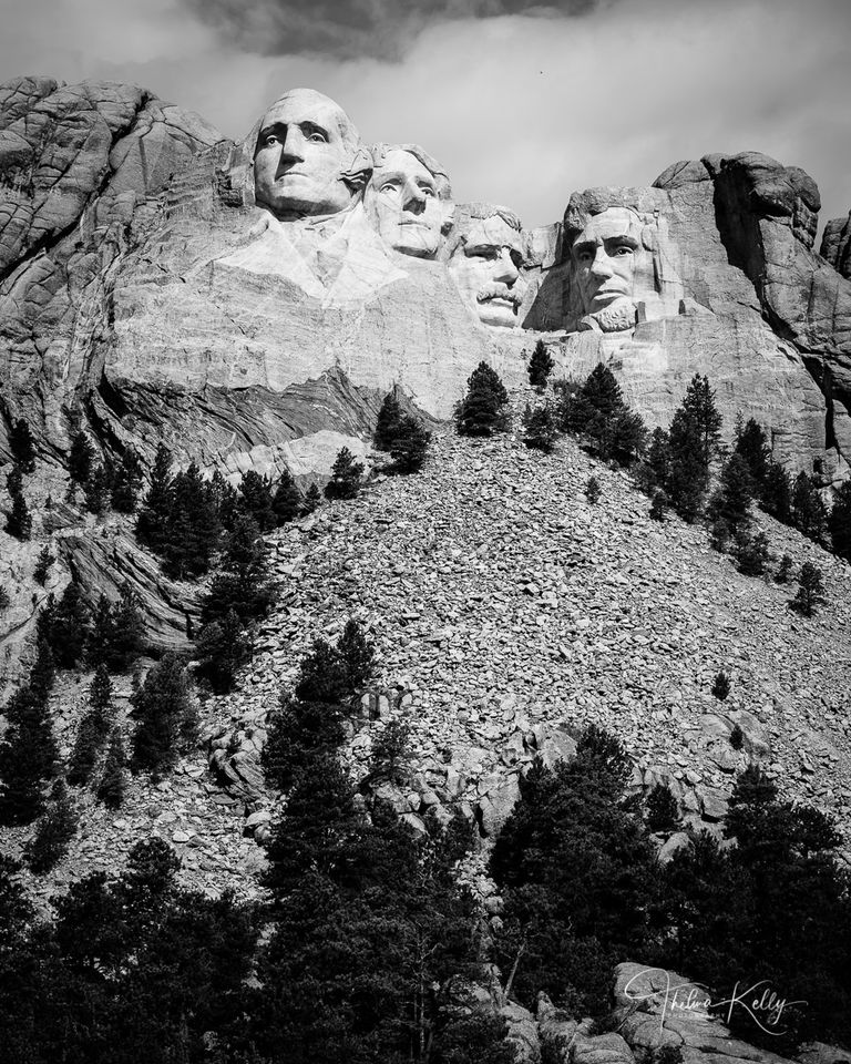 Faces of Mt. Rushmore print