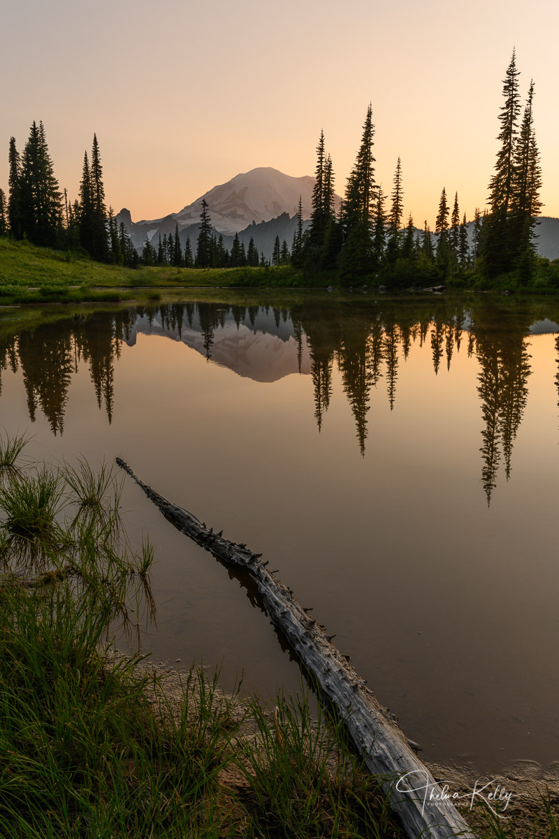 Mt. Rainer National Park, national park, reflection, calm, sunrise, photo