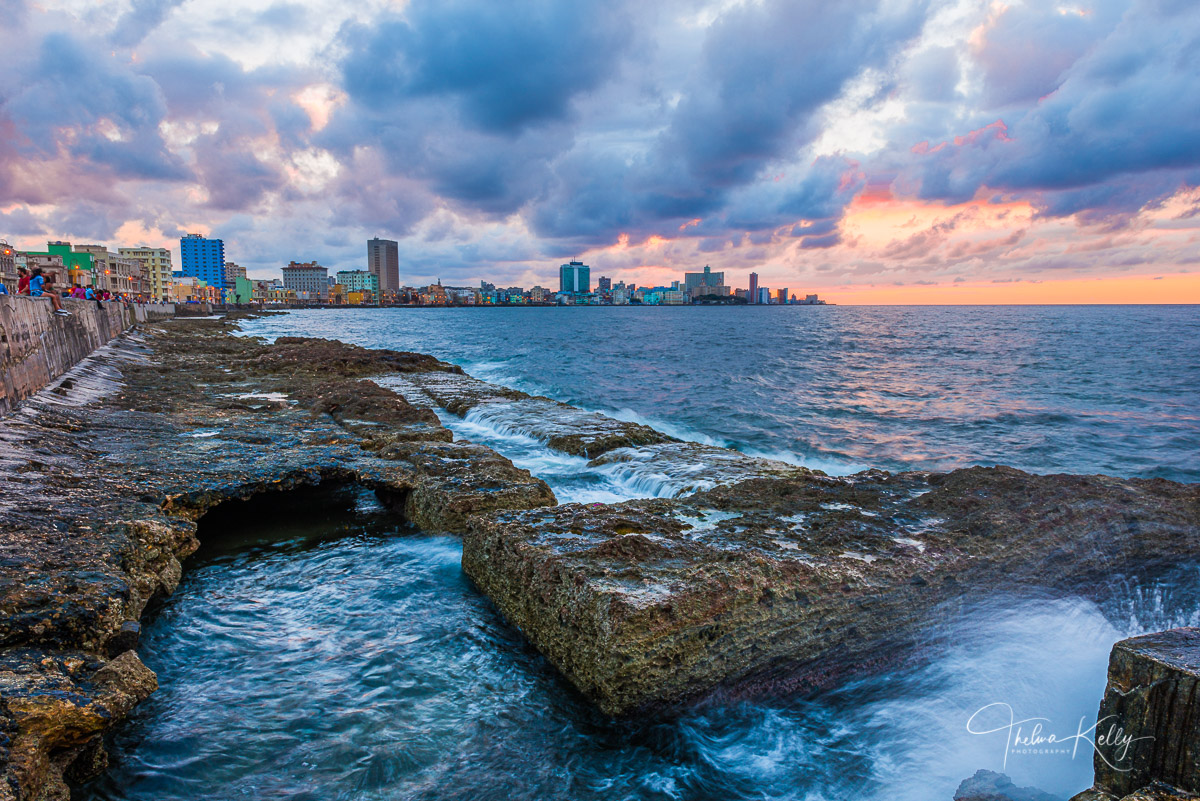 El Malecón, seawall, popular, Havana, Cuba, photo