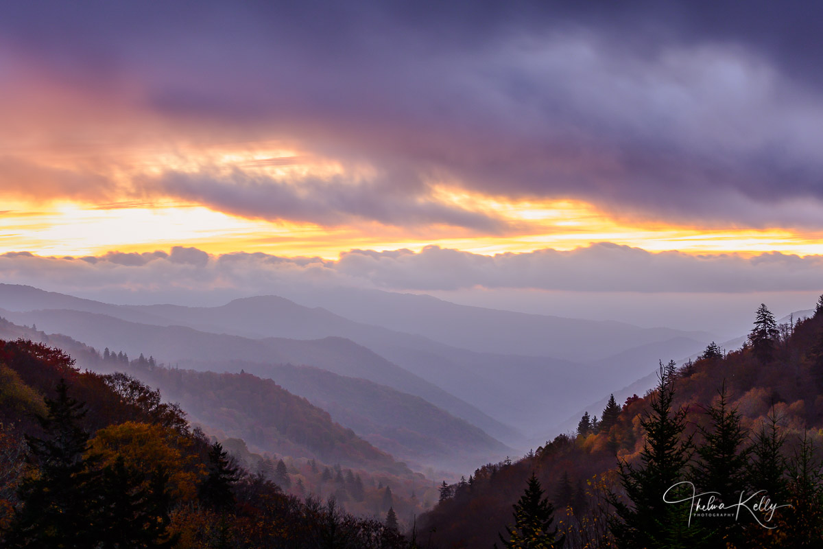 Great Smoky Mountain National Park, mountains, national parks, layers, sunrise, mountain sunrise, misty landscapes, mist, photo