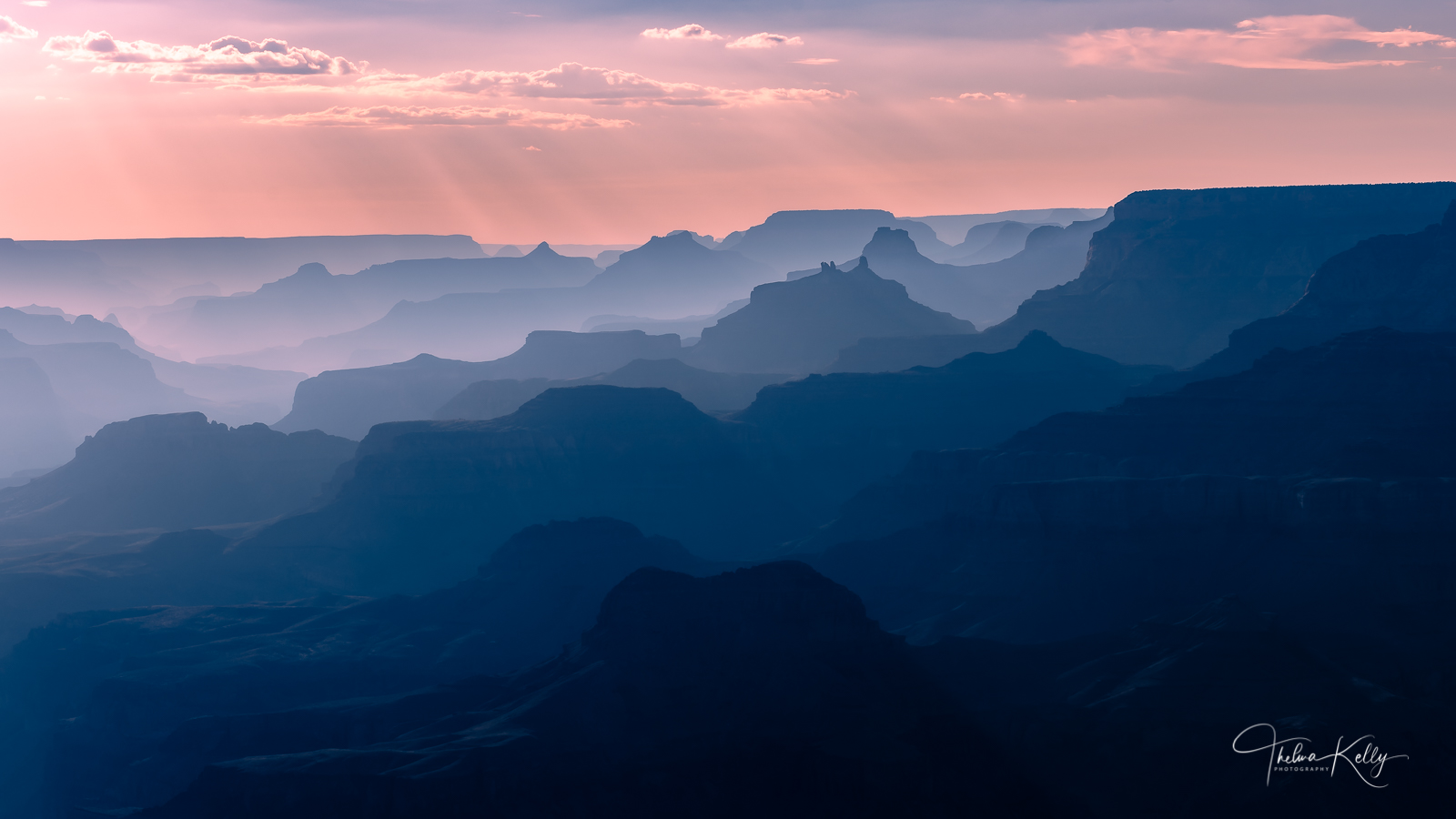 A Limited Edition of 50 Making the most out of smoke filled skies at the Grand Canyon's South Rim