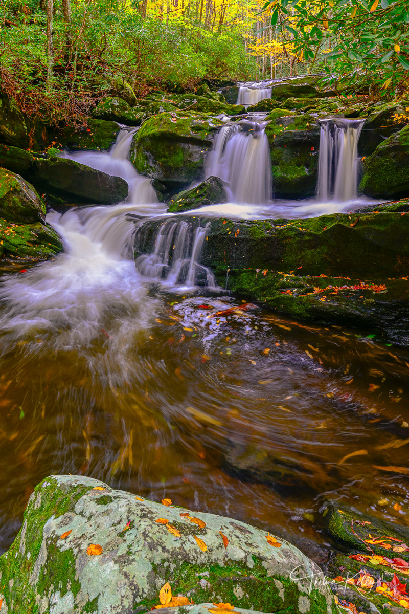 Great Smoky Mountain National Park, The Smokies, fall color, autumn, autumn color, National Parks, Rivers, waterfalls, landscape photography, long exposure photography, photo
