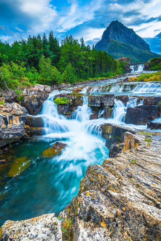 waterfall, Glacier National Park, photo