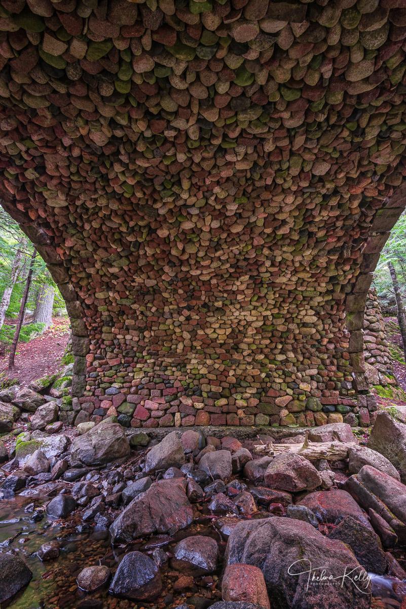 stone bridge, John D. Rockefeller Jr, Acadia National Park, abstract, photo