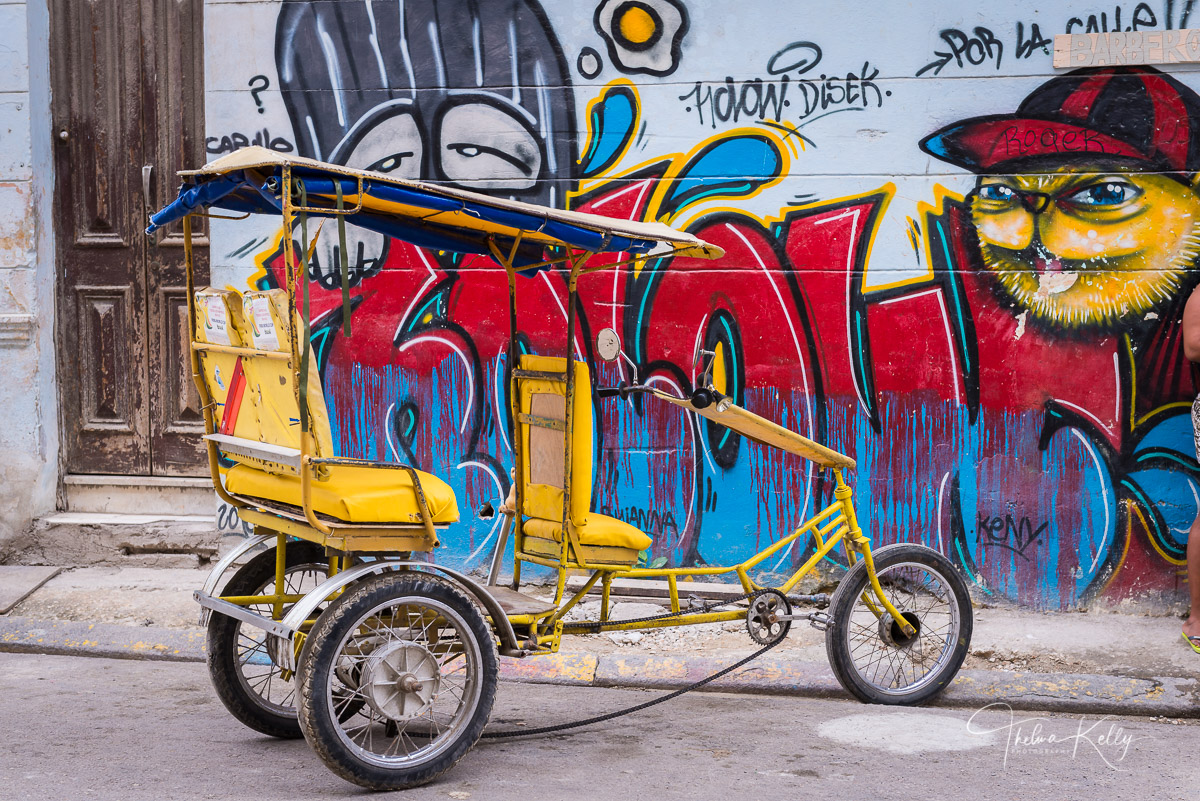 Havana, Cuba, popular ride, popular, bici taxi, bicycle taxi, photo