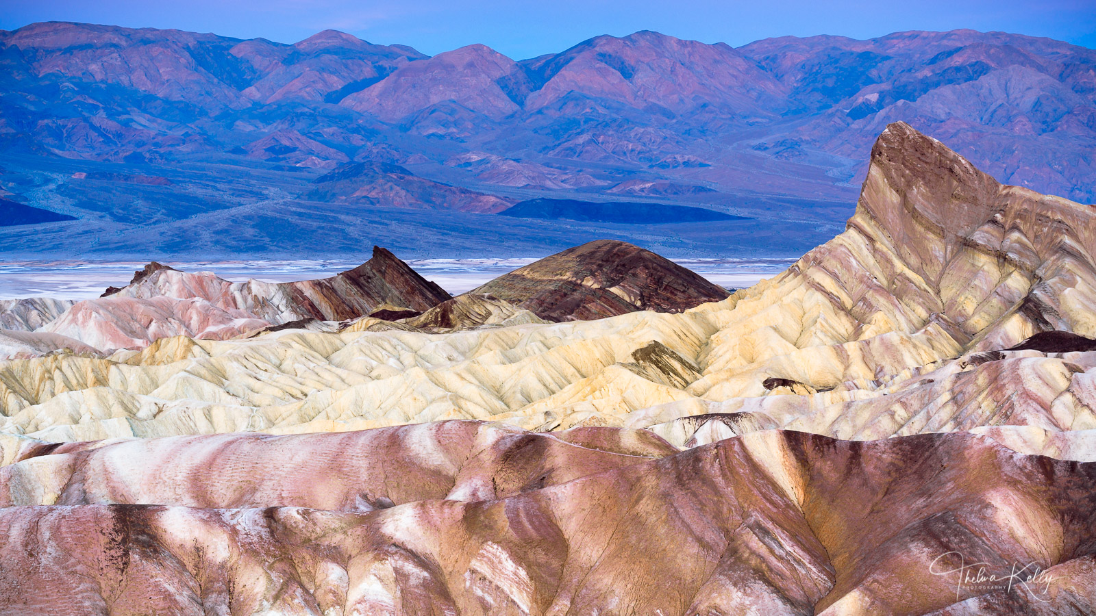 Zabriskie Point in Death Valley National Park is the perfect place to await the sunrise