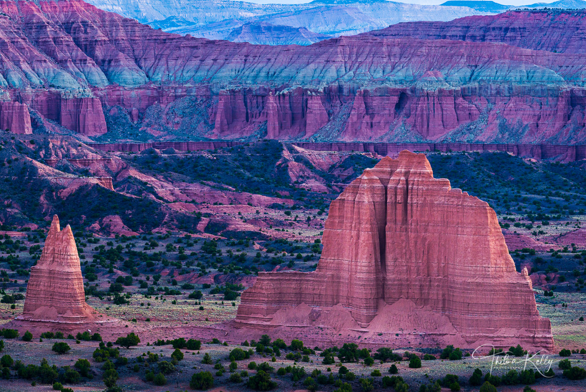 Cathedral Valley, Capitol Reef National Park, Utah, landscape, photo