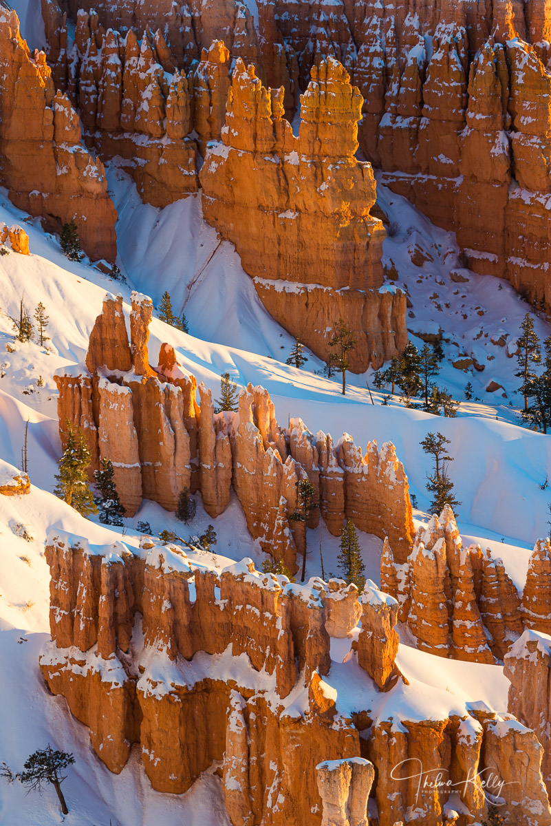 Bryce Canyon National Park, Utah, winter, landscape, photo